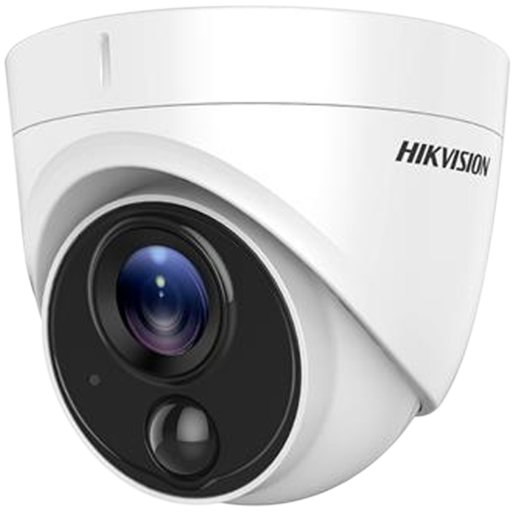 Hikvision DS-2CE71H0T-PIRL 5mp Turbo HD External IR Turret Dome Camera with 2.8mm Fixed Lens Image